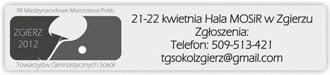 """Zaproszenie na XII Międzynarodowe Mistrzostwa Polski Towarzystw Gimnastycznych """"Sokół"""" w Tenisie Stołowym w Zgierzu"""