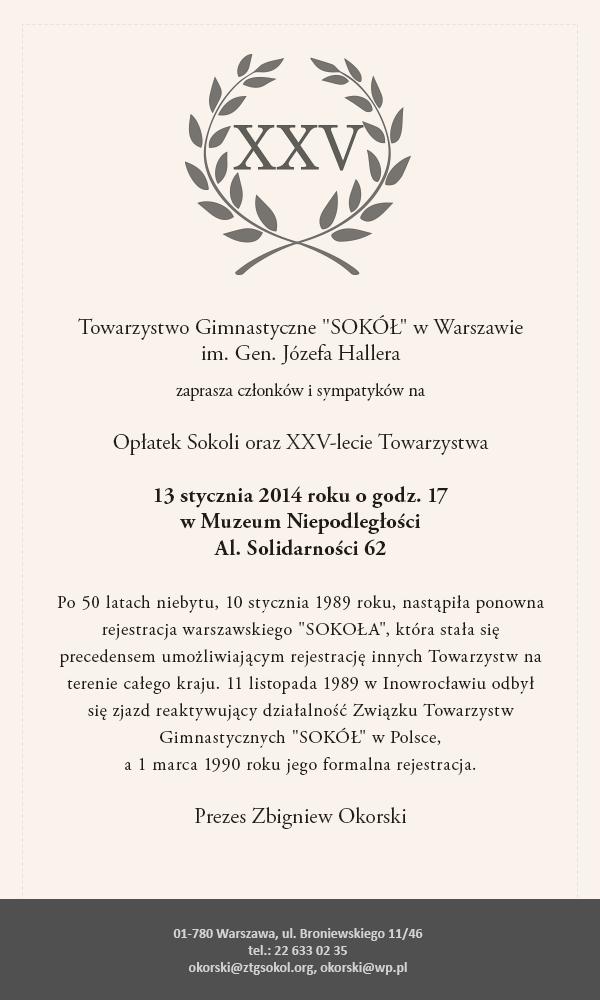Obchody 25 lat od reaktywacji pierwszego gniazda sokolego oraz Opłatek Sokoli.