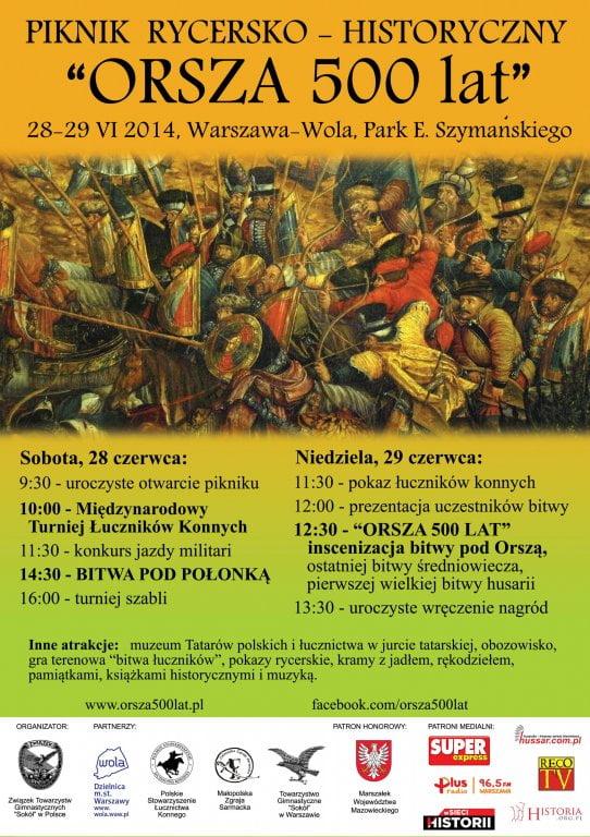 500-lecie centralnych obchodów bitwy pod Orszą pod sokolimi skrzydłami