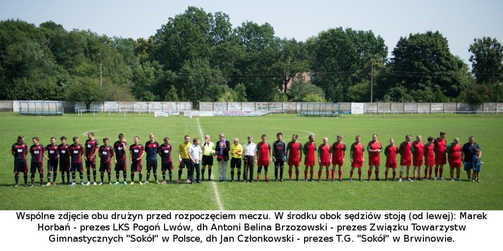 """Relacja z meczu sokołów z """"Pogonią"""" LWÓW."""
